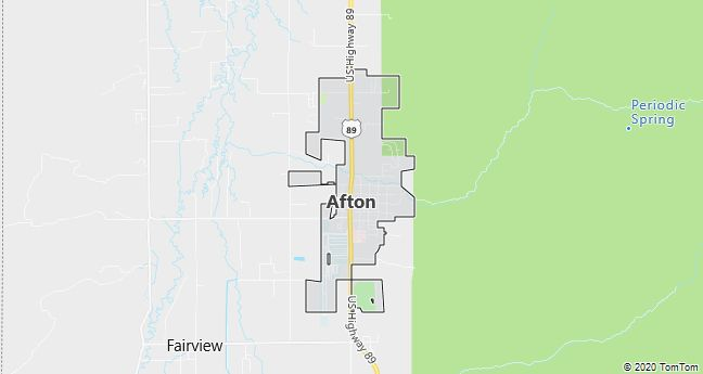 Map of Afton, WY