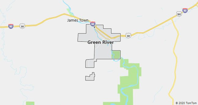 Map of Green River, WY
