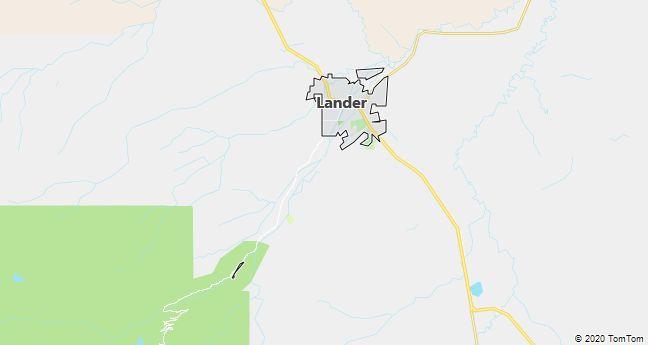 Map of Lander, WY