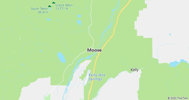 Map of Moose, WY