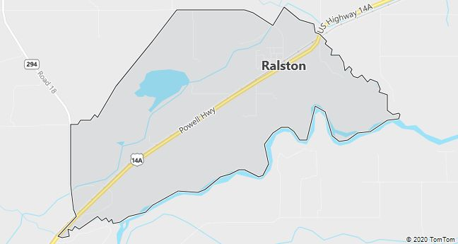 Map of Ralston, WY