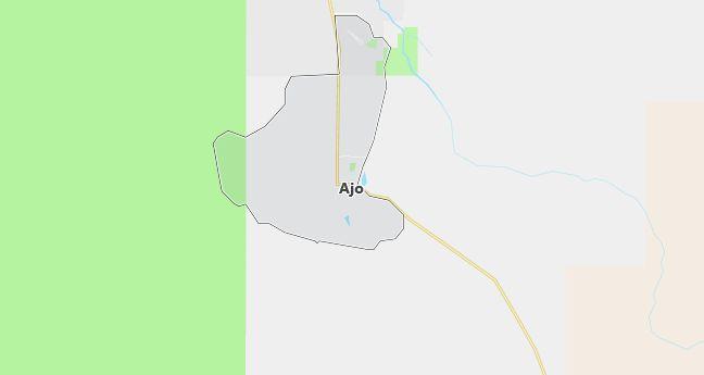 Map of Ajo, AZ