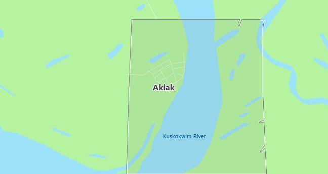 Map of Akiak, AK