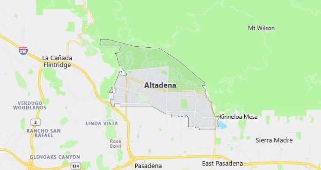 Map of Altadena, CA