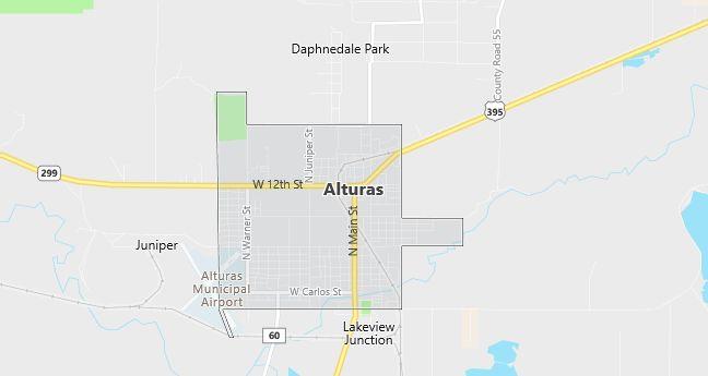 Map of Alturas, CA