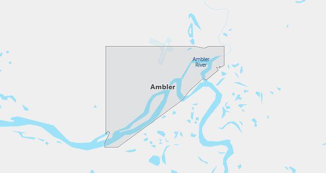 Map of Ambler, AK