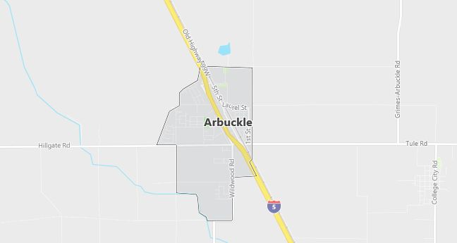 Map of Arbuckle, CA