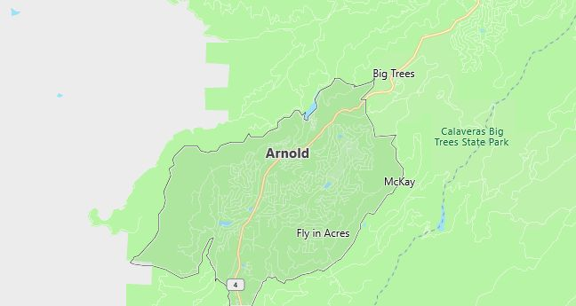 Map of Arnold, CA