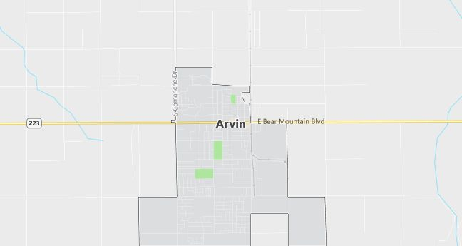 Map of Arvin, CA