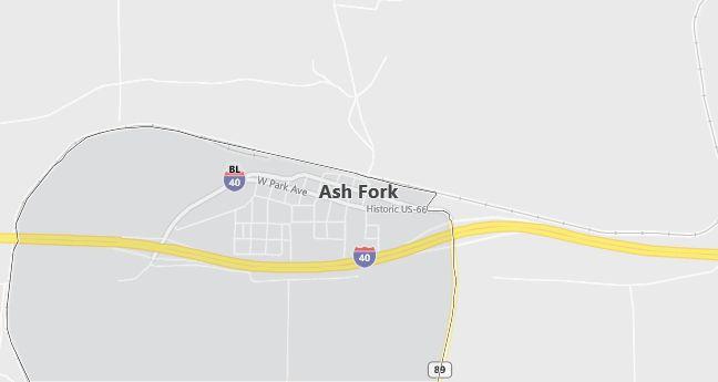 Map of Ash Fork, AZ
