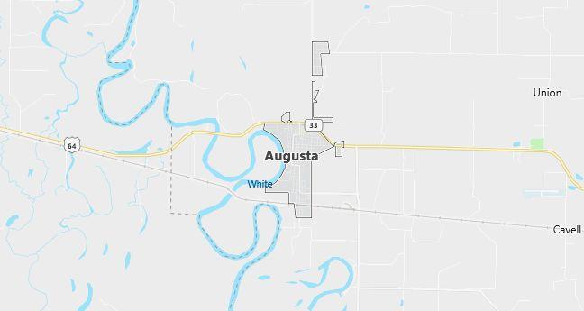 Map of Augusta, AR