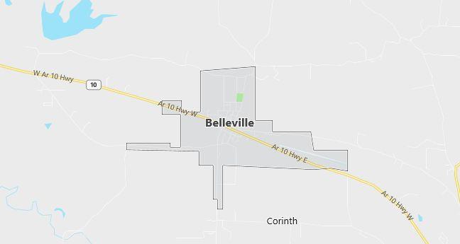 Map of Belleville, AR