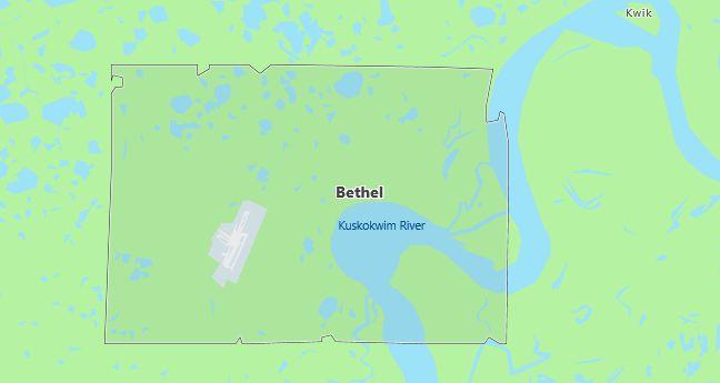 Map of Bethel, AK