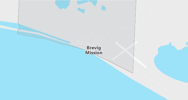 Map of Brevig Mission, AK
