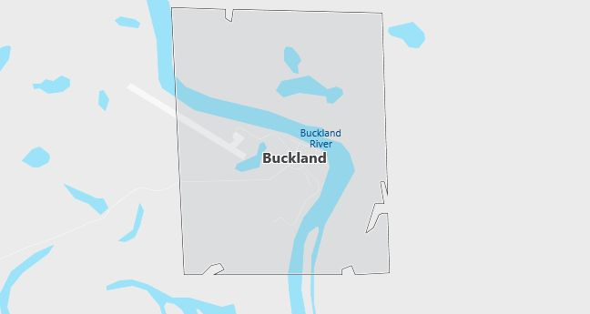 Map of Buckland, AK
