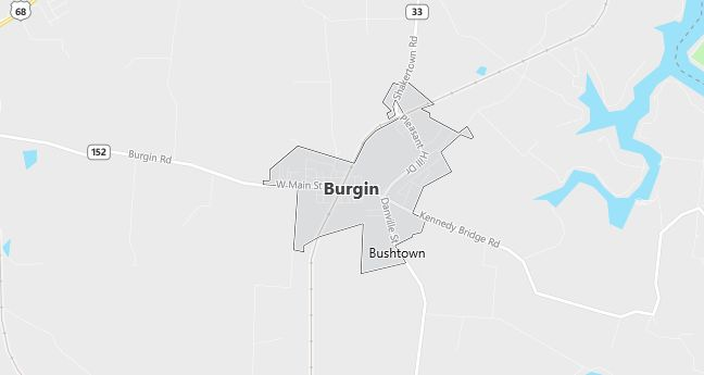 Map of Burgin, KY