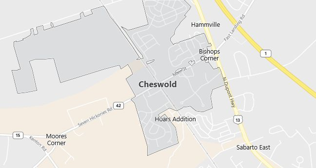 Map of Cheswold, DE