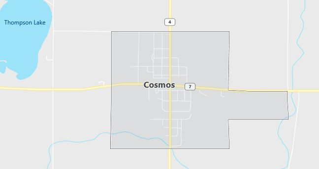 Map of Cosmos, MN