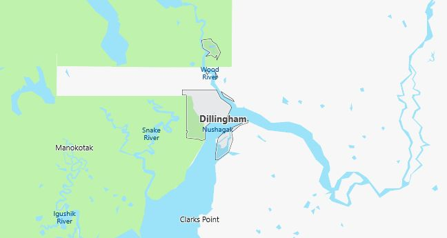 Map of Dillingham, AK