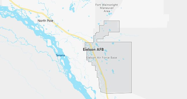 Map of Eielson Afb, AK