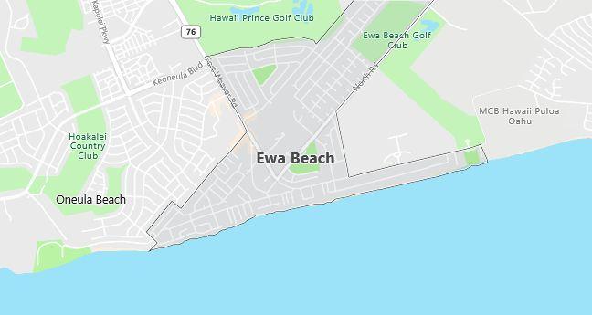 Map of Ewa Beach, HI