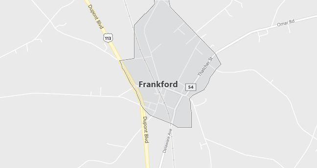 Map of Frankford, DE