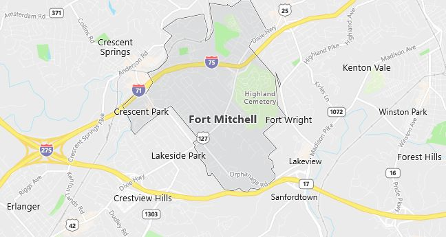 Map of Ft Mitchell, KY