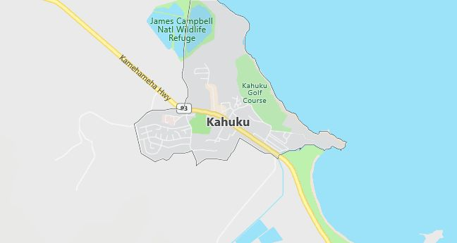 Map of Kahuku, HI
