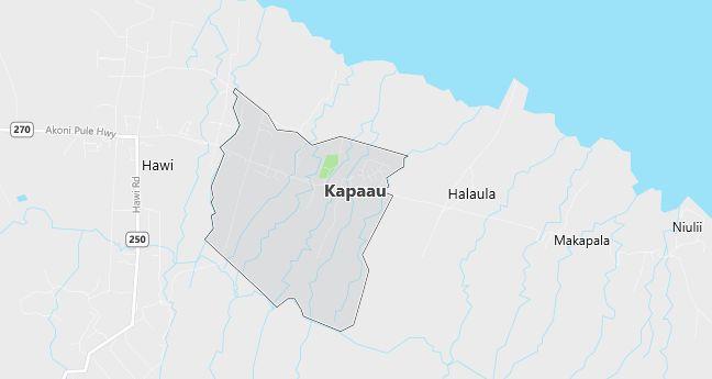 Map of Kapaau, HI