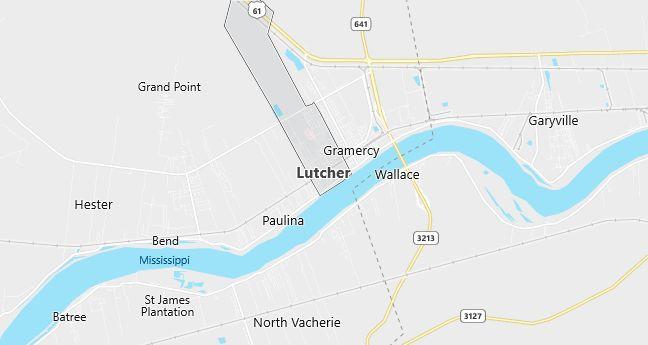 Map of Lutcher, LA