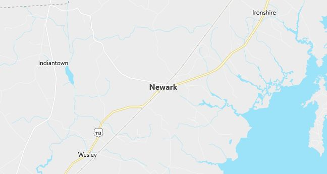 Map of Newark, MD