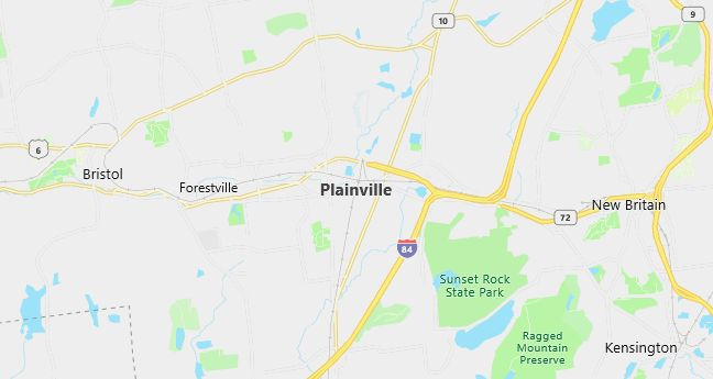 Map of Plainville, CT