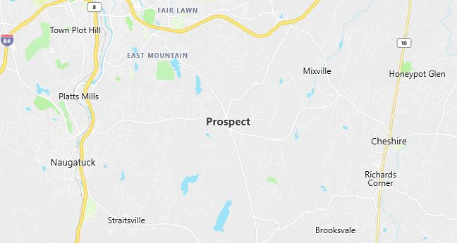 Map of Prospect, CT