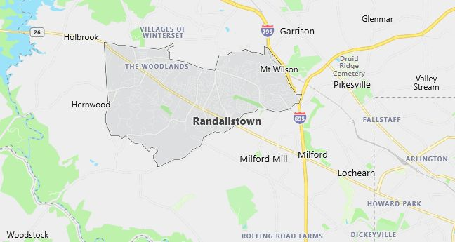 Map of Randallstown, MD