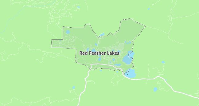 Map of Red Feather Lakes, CO