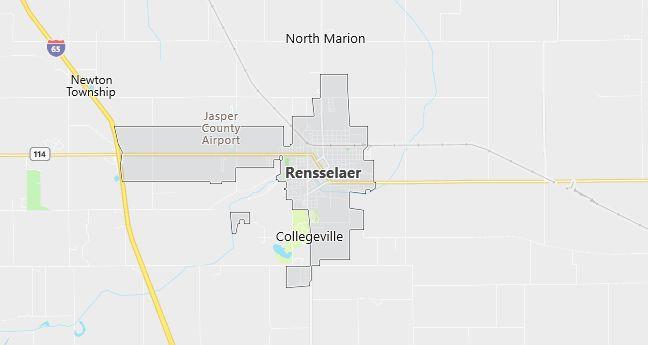 Map of Rensselaer, IN