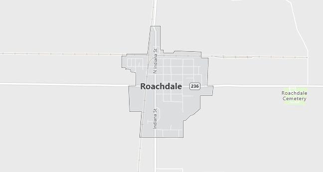 Map of Roachdale, IN