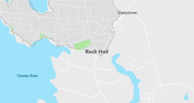 Map of Rock Hall, MD