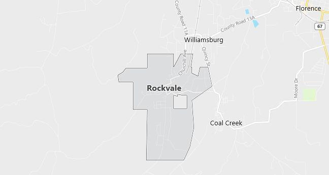 Map of Rockvale, CO
