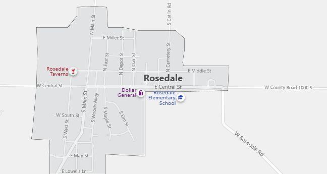 Map of Rosedale, IN