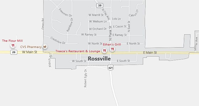 Map of Rossville, IN