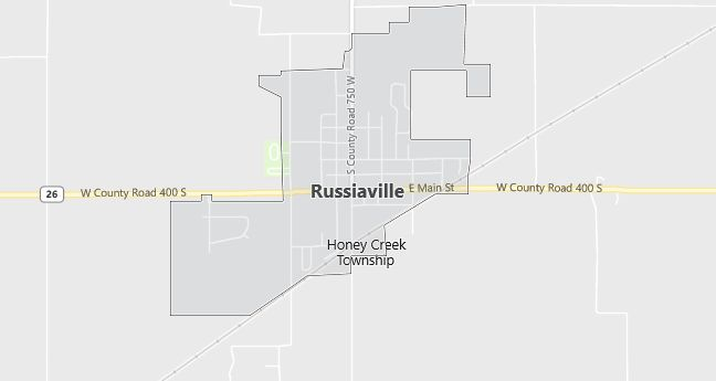 Map of Russiaville, IN