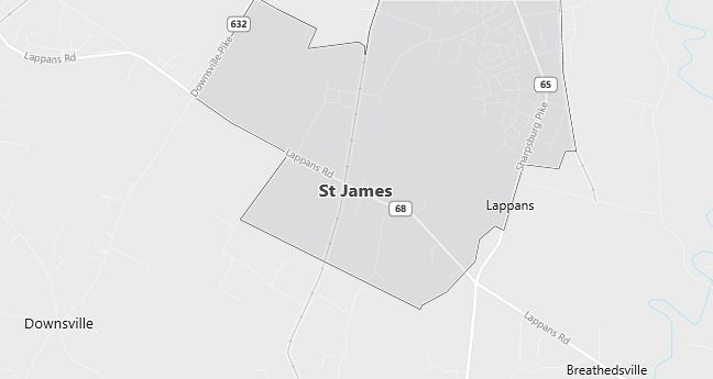 Map of Saint James, MD