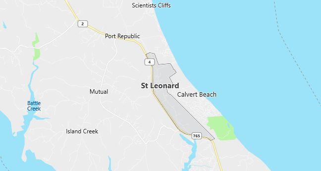 Map of Saint Leonard, MD