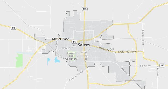 Map of Salem, IN