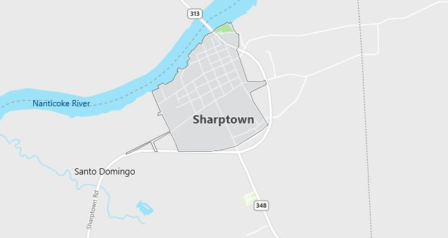 Map of Sharptown, MD