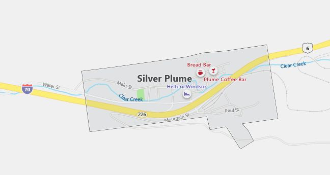 Map of Silver Plume, CO