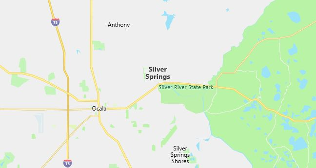 Map of Silver Springs, FL