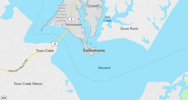 Map of Solomons, MD