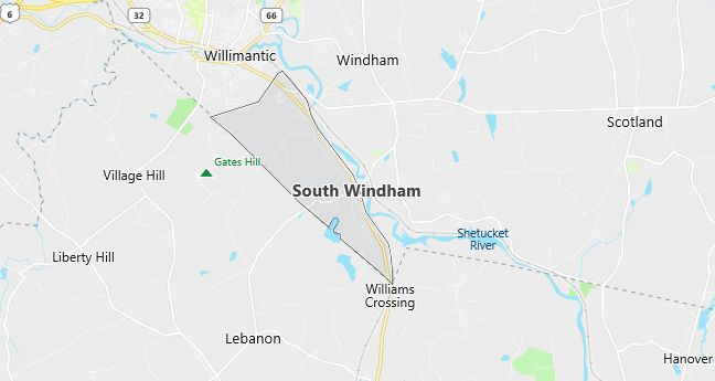 Map of South Windham, CT